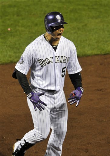 De La Rosa outduels Kuroda, Rockies beat Yanks 2-0