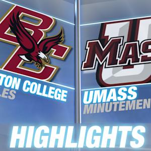 Boston College vs UMass | 2014-15 ACC Men's Basketball Highlights