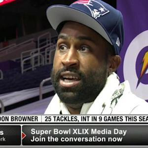 New England Patriots cornerback Brandon Browner: 'I want them to know I'm serious too'