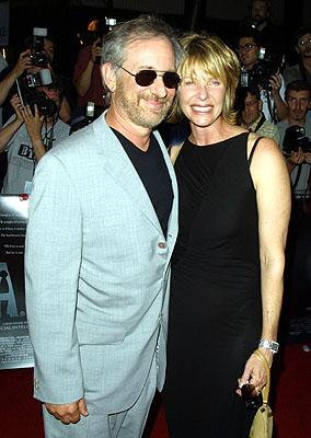 Steven Spielberg and Kate Capshaw at the New York premiere of Warner Brothers' A.I.: Artificial Intelligence