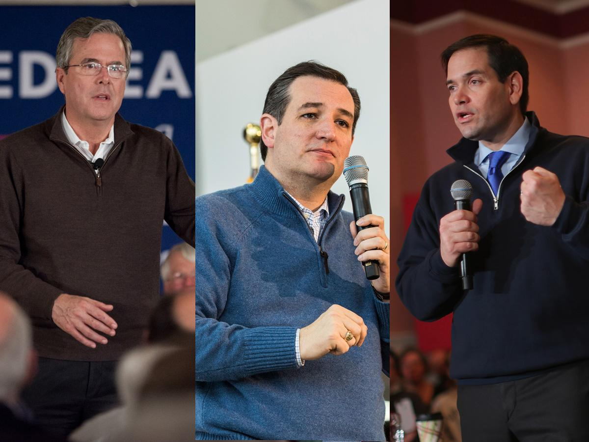 The Republican presidential candidates keep wearing the same outfit