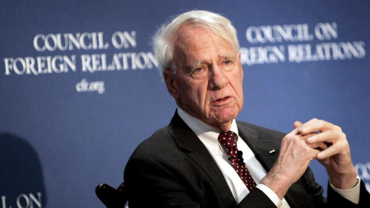 Former Secretary of Defense Schlesinger speaks at Council on Foreign Relations in New York in this file photo