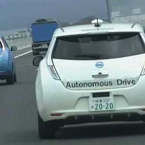 Nissan tests driverless car