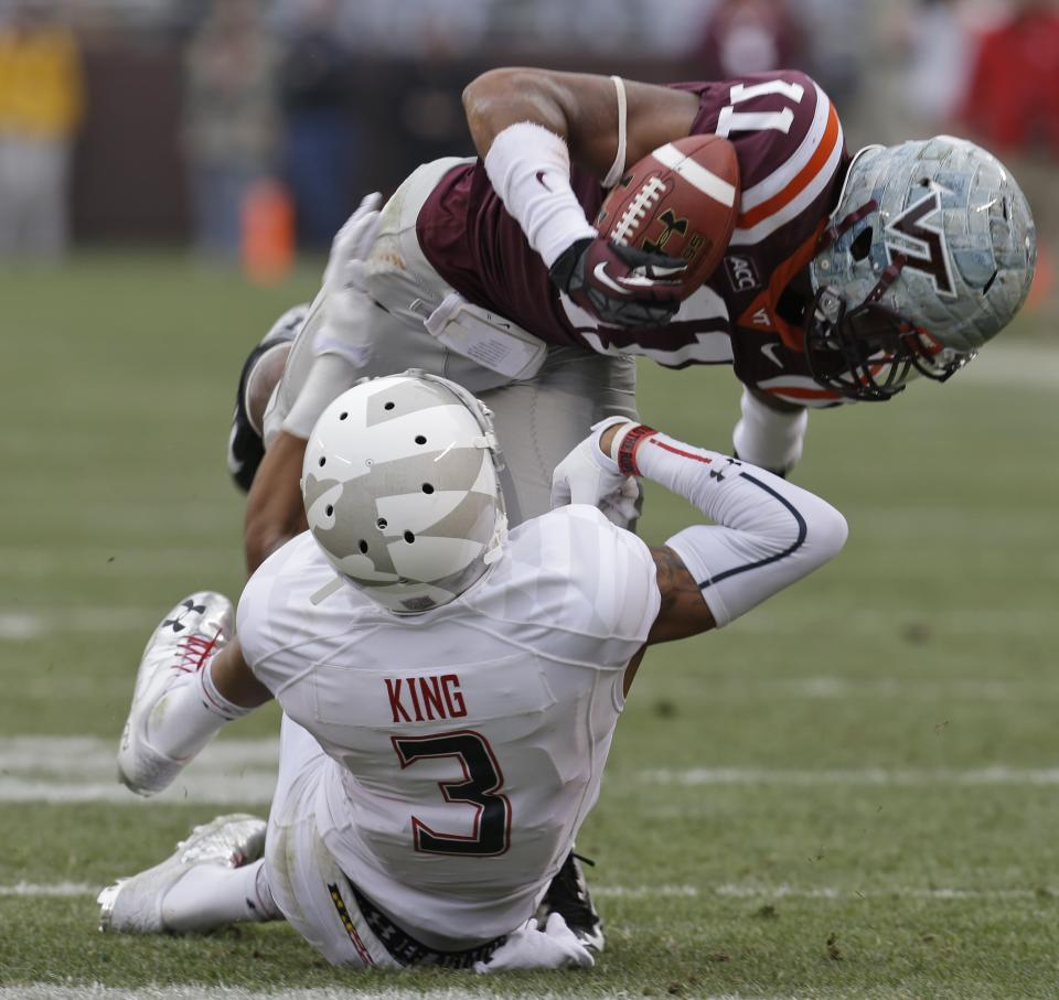 Maryland upends Hokies in OT, 27-24
