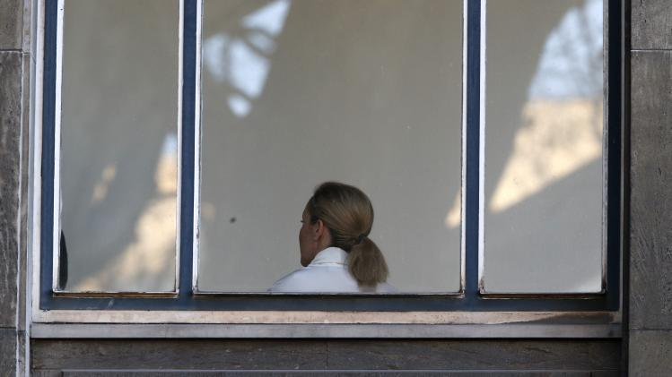 Bettina Wulff, wife of former German President Christian Wulff waits to testify at his trial at the regional court in Hanover
