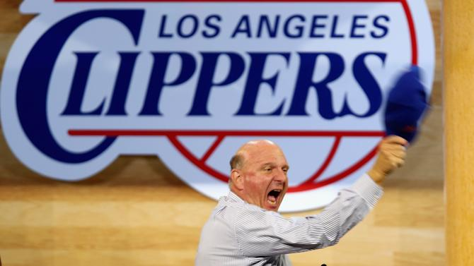 New Los Angeles Clippers owner Steve Ballmer speaks during the Los Angeles Clippers Fan Festival at Staples Center on August 18, 2014