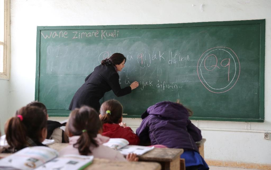 For Syrian Kurds, new curriculum in once-banned language