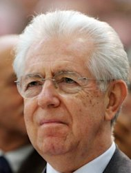 &lt;p&gt;Italian Prime Minister Mario Monti listens to a speech during a visit to a Fiat carmaker plant on December 20, 2012 in Melfi, near Potenza. Monti rescued Italy from the brink of bankruptcy, launching long-delayed pension and labour market reforms and joining other eurozone leaders in battling the debt crisis.&lt;/p&gt;