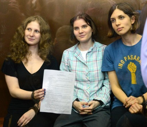 "<p>The jailed members of all-girl punk band ""Pussy Riot"" -- Yekaterina Samutsevich (centre), Maria Alyokhina (left) and Nadezhda Tolokonnikova (right) -- say they did not regret their protest against President Vladimir Putin as it revealed the ""true face"" of his regime.</p>"