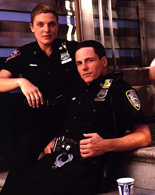 Molly Price as Yokas and Jason Wiles as Bosco on NBC's Third Watch Third Watch