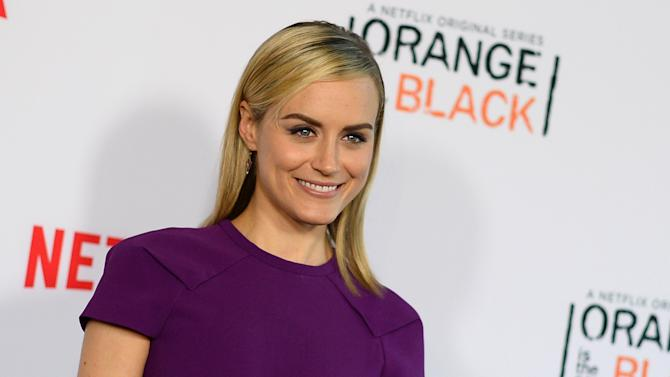 """FILE - This Aug. 4, 2014 file photo shows actor Taylor Schilling at a panel discussion with the cast of """"Orange Is The New Black"""" at the Directors Guild of America Theater in Los Angeles. Classic Stage Company said Tuesday, Aug. 19, that """"Game of Thrones"""" actor Peter Dinklage and Taylor Schilling from """"Orange Is The New Black"""" will co-star as Rakitin and Natalya in the revival, which kicks off Jan. 9. (Photo by Jordan Strauss/Invision/AP, File)"""