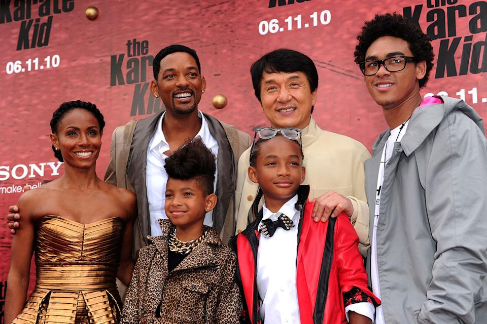 The Karate Kid LA Premiere 2010 Jada Pinkett Smith Will Smith Willow Smith Jaden Smith Trey Smith