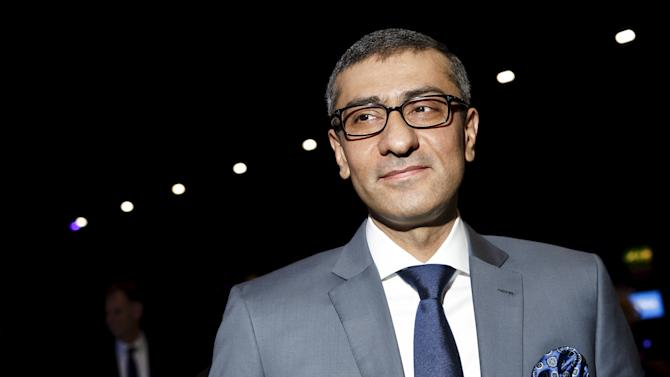 Nokia's President & CEO Suri is seen at the beginning of the company's annual general meeting in Helsinki