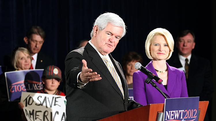 Newt Gingrich Holds Campaign Rally In Colorado