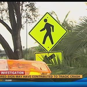 Obscured sign may have contributed to tragic crash