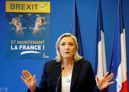 'Everything but Hillary Clinton,' France's Le Pen says, backing Trump