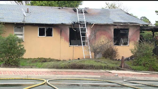 Crews Battle Two-Alarm Fire At Clairemont Home