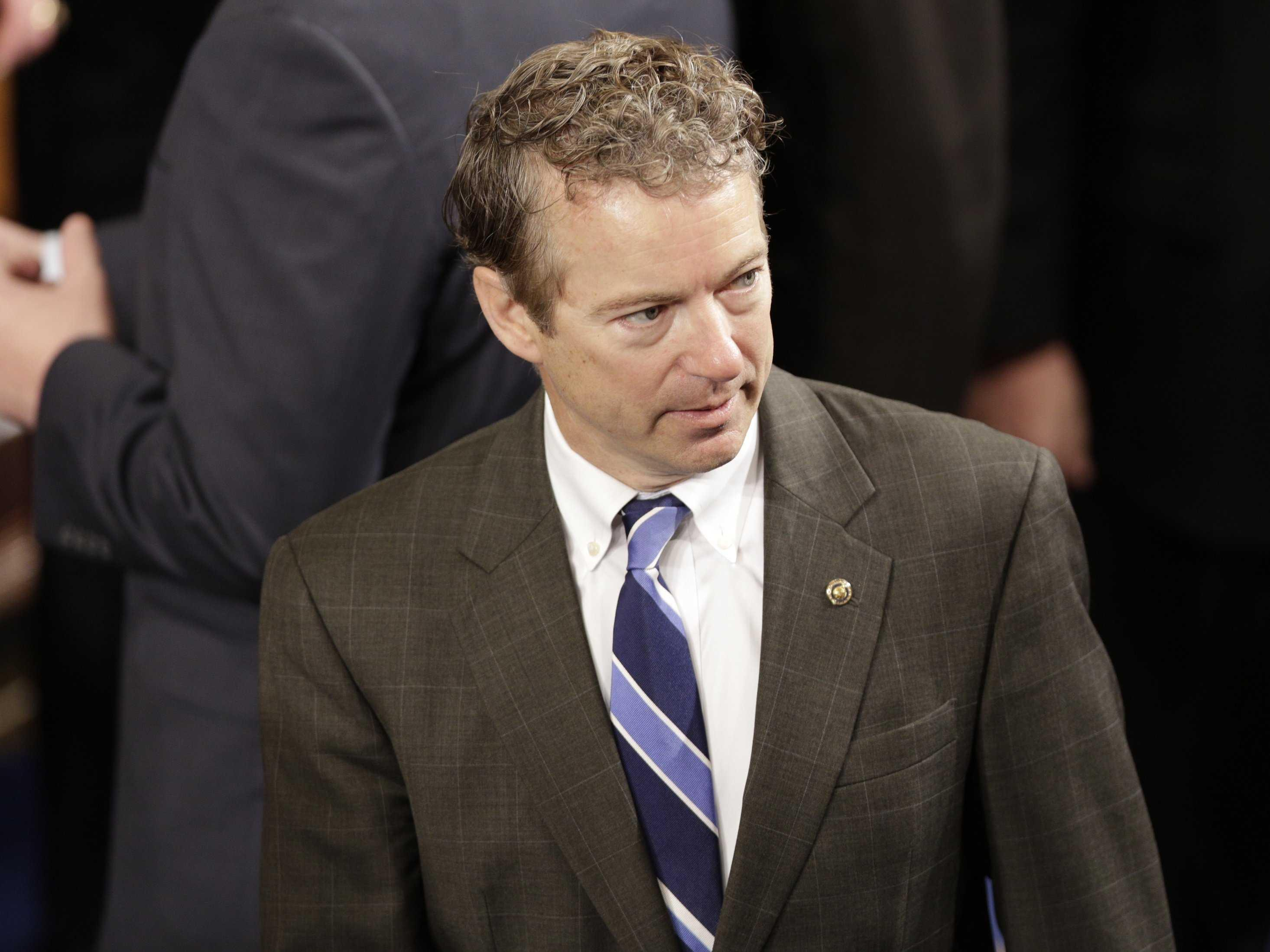 Rand Paul has a problem with this GIF mocking his reaction to Netanyahu's speech