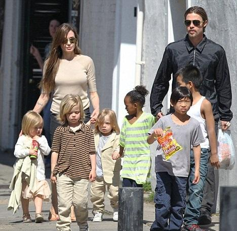 Brad Pitt And Angelina Jolie Fly Their Children's Friends Over To Filming Locations