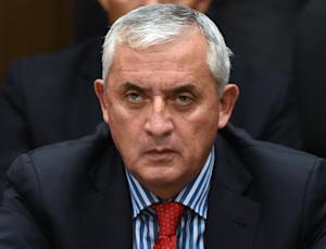 Guatemalan ex-president Otto Perez attends a hearing …