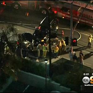 Car Crash In Pacific Palisades Snarls Traffic On PCH