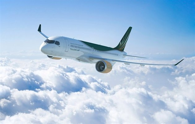 A CS300 aircraft in the livery of SaudiGulf Airlines is shown in an image released on Thursday January 16, 2014. THE CANADIAN PRESS/HO, Bombardier