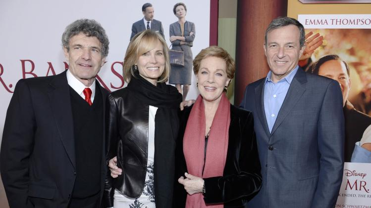 "Horn, Andrews, Igar his wife Bay attend the film premiere of ""Saving Mr. Banks,"" at the Walt Disney Studios in Burbank"