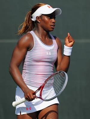 Sloane Stephens on the court during the Sony Ericsson Open at Crandon Park Tennis Center on March 21, 2012 in Key Biscayne, Florida -- Getty Images