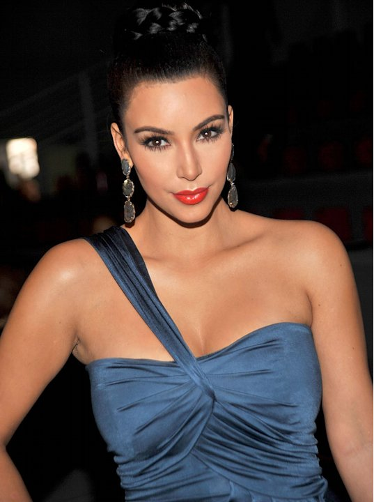 Kim Kardashian attends the Vera Wang Spring 2012 fashion show during Mercedes-Benz Fashion Week at The Stage at Lincoln Center on September 13, 2011 in New York City.