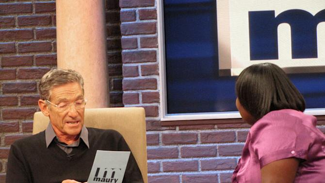 "In this image released by the Maury show, veteran TV personality Maury Povich is shown on the set of his syndicated talk show, ""Maury,"" in Stamford, Conn. In the post-Oprah Winfrey daytime world, these are good days to be Maury Povich, who shares with Jerry Springer and Steve Wilkos a studio converted from a theater 45 miles northeast of New York. His show has its best ratings in five years. ""Maury"" is the top talk show among young viewers. (AP Photo/The Maury Show)"