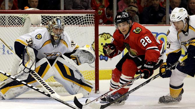 Rinne makes 29 saves and Preds blank Blackhawks