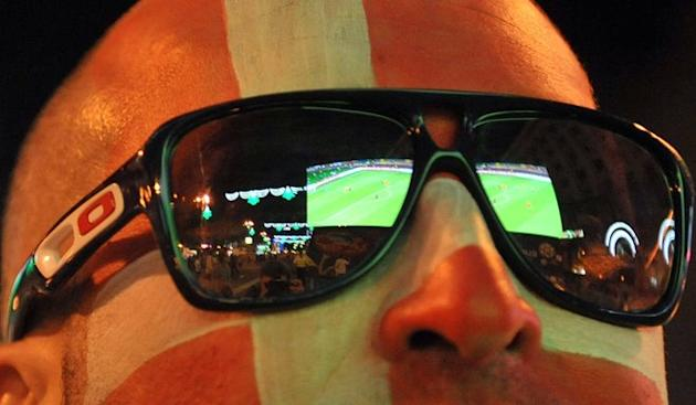 A Danish Fan Watches AFP/Getty Images