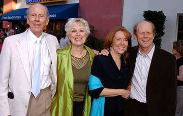 Rance Howard , Judy Howard, Cheryl Howard and Ron Howard at the LA premiere of Universal's Cinderella Man