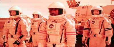 The Mars One mission team includes Renee Cote ( Jill Teed ), Nicholas Willis ( Kavan Smith ), Commander Luke Graham ( Don Cheadle ) and Sergei Kirov ( Peter Outerbridge ) in Touchstone's Mission To Mars