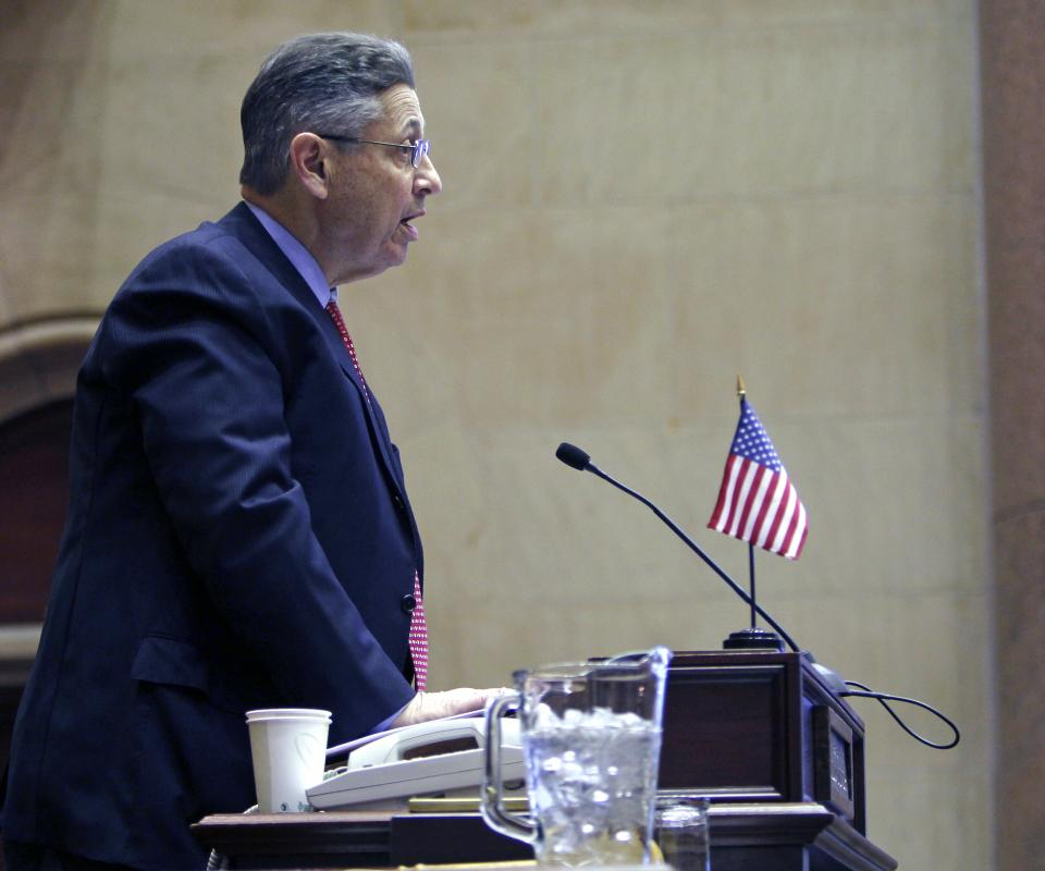 Assembly Speaker Sheldon Silver, D-Manhattan, speaks in the Assembly Chamber as legislators convened for the first full week of session, in Albany, N.Y., Monday, Jan. 10, 2011.  (AP Photo/Mike Groll)