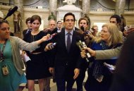 House Majority Leader Eric Cantor (R-VA) speaks to reporters during the 14th day of the partial government shut down in Washington on October 14, 2013. REUTERS/Joshua Roberts
