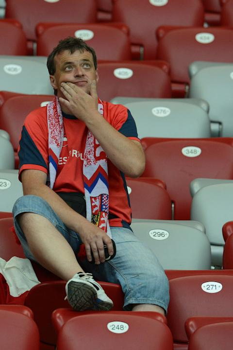 A Czech Fan Reacts AFP/Getty Images