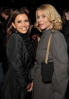 Eva Longoria Parker and Christina Applegate at the Los Angeles premiere of New Line Cinema's Over Her Dead Body