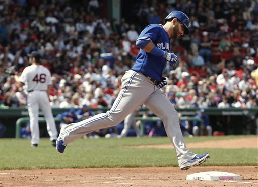 Bautista HRs twice, leads Blue Jays over RSox 12-4