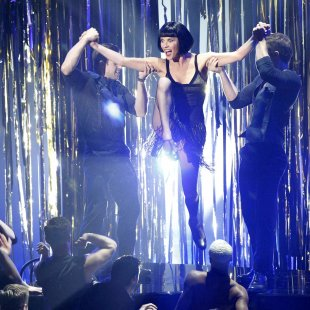 "Actress Catherine Zeta-Jones performs a song from the movie ""Chicago"" at the 85th Academy Awards in Hollywood"