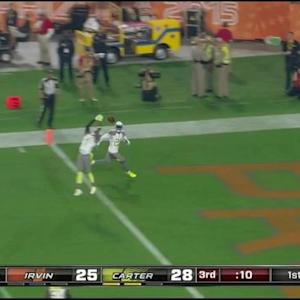 Arizona Cardinals defensive back Antonio Cromartie and Peterson drop interception