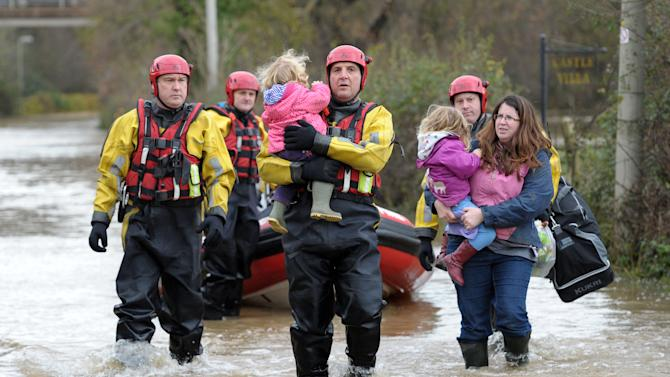 Floods in Britain highlight insurance dispute