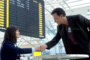 Catherine Zeta-Jones and Tom Hanks in DreamWorks' The Terminal
