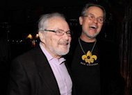 "Author Maurice Sendak (L) and film director Jonathan Demme attend a party for the flim ""Where The Wild Things Are"" in 2009 in New York City. Sendak, a forever favorite of children around the world for his magical stories and inventive illustrations -- including his classic ""Where The Wild Things Are"" -- died Tuesday at the age of 83"