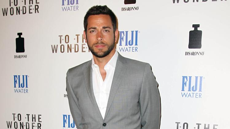 "IMAGE DISTRIBUTED FOR FIJI WATER - Actor Zachary Levi arrives at the premiere of ""To The Wonder"" hosted by FIJI Water on Tuesday, April 9, 2013 in Los Angeles. (Photo by Matt Sayles/Invision for Fiji Water/AP Images)"