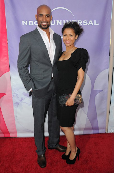 """Undercovers'"" Boris Kodjoe and Gugu Mbatha-Raw arrive at NBC Universal's 2010 TCA Summer Party on July 30, 2010 in Beverly Hills, California."