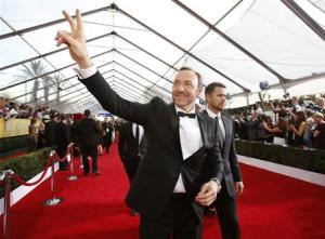 Actor Kevin Spacey arrives at the 20th annual Screen Actors Guild Awards in Los Angeles