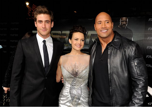 Faster LA Premiere 2010 Oliver Jackson Cohen Carla Gugino Dwayne Johnson