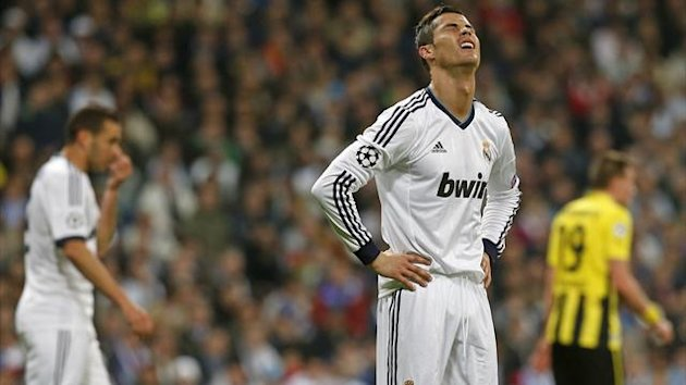 Real Madrid's Cristiano Ronaldo reacts (Reuters)