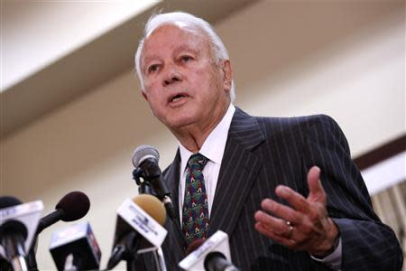File photo of former Louisiana Governor Edwin Edwards announcing run for congress in Baton Rouge